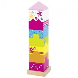 GOKI krāsains koka būvēšanas tornis, Susibelle