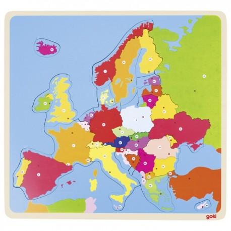 GOKI koka izglītojošā puzle - Eiropas karte