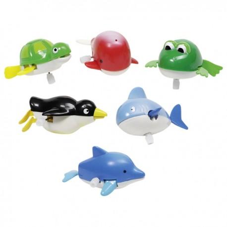 GOKI vannas rotaļlieta - ūdens dzīvnieki ar uzvelkamu motoru