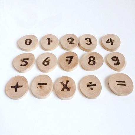 Koka ripiņas matemātikas apgūšanai - Latvijā ražota ābeļkoka spēle