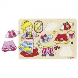 GOKI koka puzle - Apģērb princesi!