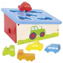GOKI sortēšanas kaste ar transportlīdzekļiem