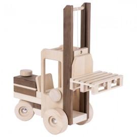 GOKI dabīgā koka autokrāvējs - paceļams iekrāvēja mehānisms un grozāma stūre