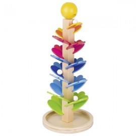 """GOKI koka spēle """"Ziediņi"""" ar marmora bumbiņām"""