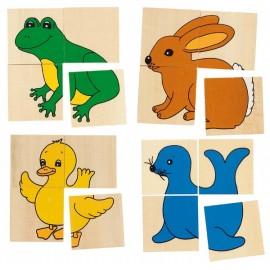 GOKI koka puzle/atmiņas spēle - dzīvnieki