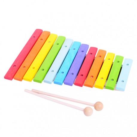 BIGJIGS Mūzikas instruments - ksilofons, koka, krāsains