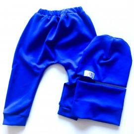 Komplekts (86.izmērs) - Harembikses, cepurīte un apaļšalle, zils
