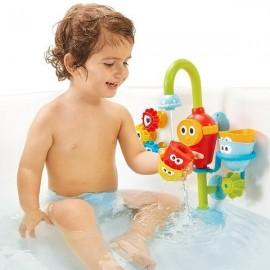 Vannas rotaļlieta bērniem - strūklaka ar motoriņu un trauciņiem
