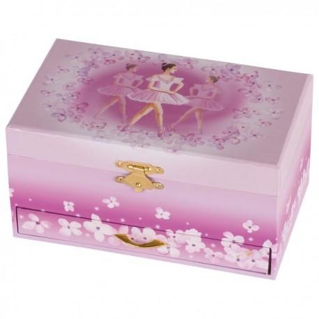 GOKI muzikālā dārgumu lādīte - Balerīna ar atvilknēm, rozā