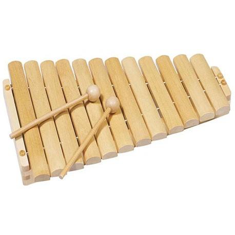 GOKI Koka ksilofons - nekrāsots, 12 toņi