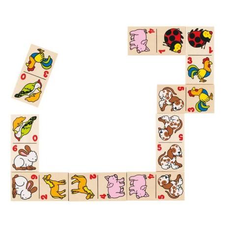 GOKI Koka spēle domino - dzīvnieki (28 gabaliņi)