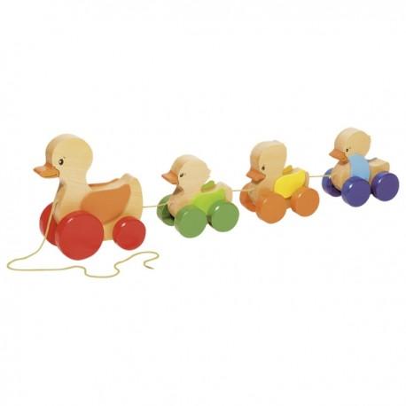 GOKI velkamā koka rotaļlieta - pīļu ģimene
