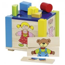 GOKI koka figūru kaste ar puzli