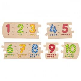 GOKI koka puzle - ciparu apgūšana 1-10