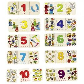 GOKI koka puzle - ciparu apgūšana 1-10 ar saskaitīšanu un saskaņošanu