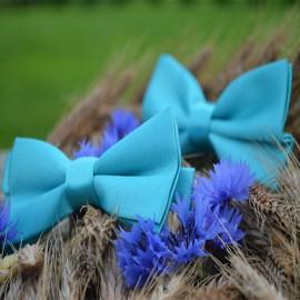 Tirkīza zils tauriņu komplekts (divdaļīgs) - tētim un dēlam