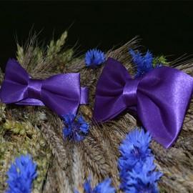 Violets tauriņu komplekts (divdaļīgs) - tētim un dēlam
